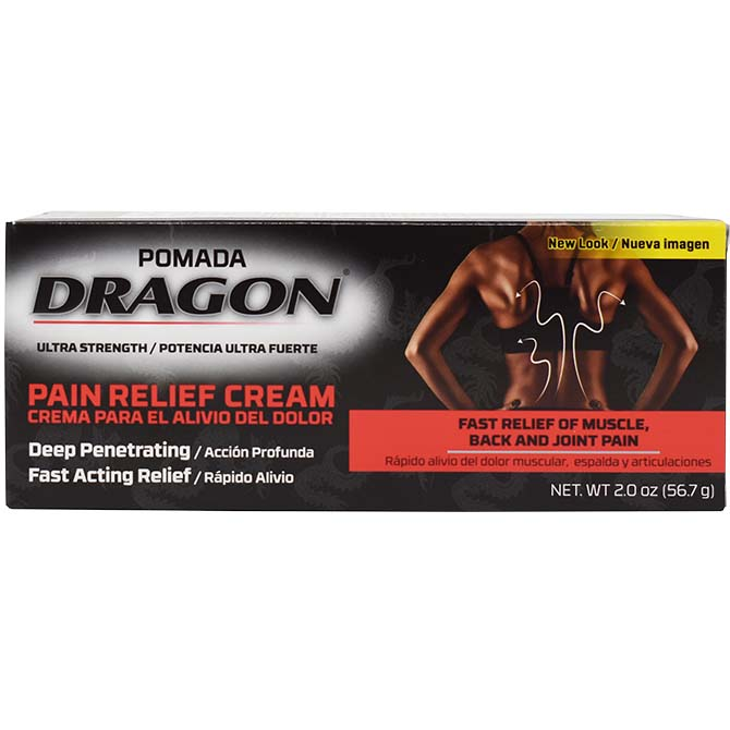 GENOMMA DRAGON PAIN RELIEF CREAM 2oz MUSCLE ACHES/ ARTHRITIS
