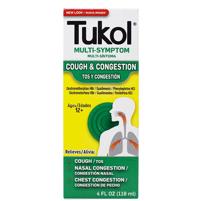 TUKOL ADULTS COUGH & CONGESTION 4oz