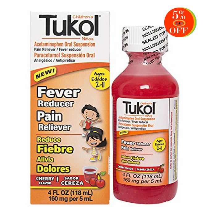 TUKOL CHILDREN'S FEVER REDUCER & PAIN RELIVER4oz