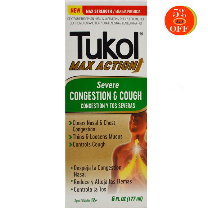 TUKOL ADULTS MAX  ACTION SEVERE CONGESTION & COUGH 6oz