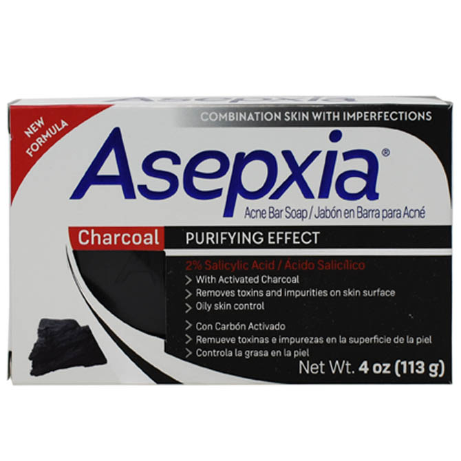 GENOMMA ASEPXIA SOAP WITH ACTIVATED CHARCOAL 4oz