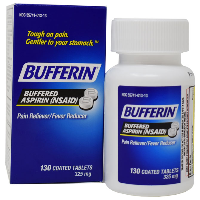 GENOMMA BUFFERIN ASPIRIN TAB REGULAR STRENGTH 130 CT