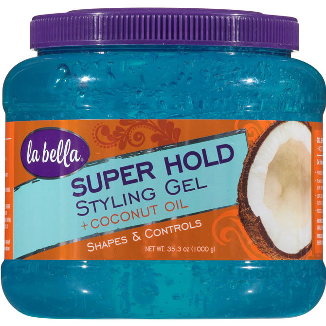 LA BELLA SUPER HOLD STYLING GEL WITH COCONUT OIL 35.3oz