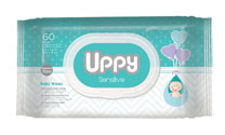 UPPY WIPES SENSITIVE SKIN 60'S