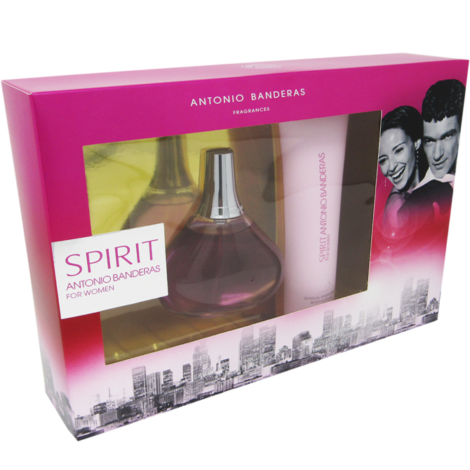 ANTONIO BANDERA SPIRIT WOM SET EDT 3.4OZ+ LOTION